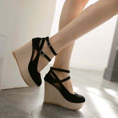 73e0190f1e Dubai Shoes Shoes Wedges Boots, Ankle Strap Wedges, Strappy Shoes, Toe Shoes ,