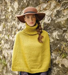 Cairn Cape. Circularly #knit from turtleneck to hem. Cast off and pop it on. Easy.