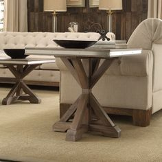 Shop for Abbott Rustic Steel Strap Oak Trestle End Table by iNSPIRE Q Artisan. Get free shipping at Overstock.com - Your Online Furniture Outlet Store! Get 5% in rewards with Club O! - 22829263