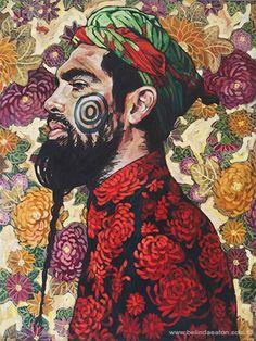 Weird & Wonderful Wednesday: 'Man With Beard' by Belinda Eaton. Simply superb.