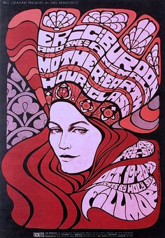 The Animals / Hour Glass (pre- Allman Brother Band) - Mint 1967 Fillmore Concert Poster (BG-89) - Recordmecca