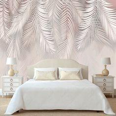 Simple Bedroom Design, Bedroom Wall Designs, Master Bedroom Design, Room Decor Bedroom, Cool Wallpapers For Bedroom, Bedroom Wallpaper Modern, Tropical Wallpaper, Stylish Bedroom, Wallpaper Decor