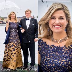Gorgeous gown and sapphires Royal Brides, Royal Weddings, Hijab Evening Dress, Mom Dress, Estilo Fashion, Queen Maxima, Royal Fashion, Classy Women, Mother Of The Bride