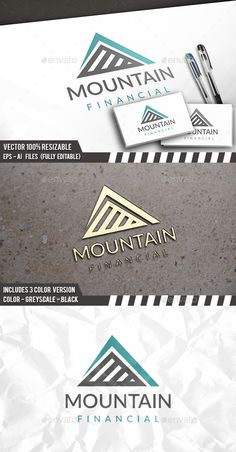 Mountain Financial - Logo Design Template Vector #logotype Download it here: http://graphicriver.net/item/mountain-financial-logo/13193933?s_rank=1011?ref=nexion