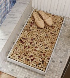 Wine Cork Bath Mat   Crafts With Wine Corks   DIY Home Decor   Craft — Country Woman Magazine