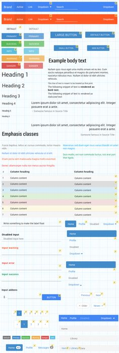 Bootstrap in UXPin - Material Design from Google