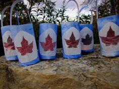 Maple Leaf Lanterns; these would be great to use around Canada Day or in a lesson about Canadian citizenship. Visual Art Lesson.