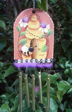 Handpainted Summer Home  Windchimes by stephskeepsakes on Etsy, $8.50