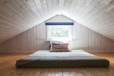Sovloft med plats för stor madrass