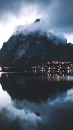 Stunningly Moody image from Reine Lofoten by Lofoten, Oh The Places You'll Go, Places To Travel, Travel Destinations, Places To Visit, Landscape Photography, Nature Photography, Travel Photography, Photography Backgrounds