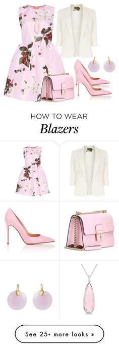 """Untitled #400"" by scarlet-fltcher on Polyvore featuring RED Valentino, Jolie Moi, Allurez, Gianvito Rossi, Dolce&Gabbana and Kastur Jewels"
