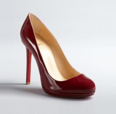 #ChristianLouboutin  Imperial Red Patent Leather Platform 'Neofilo 120' Pumps #heels #musthave #red #love #fashion