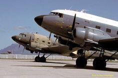 South African Air Force Douglas Dakotas & at 35 Squadron, Cape Town, S Africa in South African Flag, South African Air Force, Douglas Dc3, Army Day, Air Planes, Korean War, Air Show, Military Aircraft, Cape Town