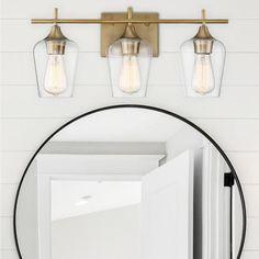Savoy House Octave 4 Light In Bath Bar Polished Chrome With Clear Glass Bathroom Light Fixtures, Bathroom Vanity Lighting, Vanity Mirrors, Bathroom Lights Over Mirror, Vanity Bar, Mirror Bathroom, Bathroom Chrome, Bathroom Black, Bathroom Cabinets