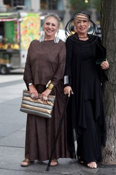 Style Advances With Age! From Ari Seth Cohen's blog Advanced Style. http://www.advancedstyle.blogspot.com/2013/07/lynn-and-lucille.html
