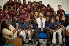 For U who don't think our President visits the hood U wrong its just not good enough for the news networks to air it....