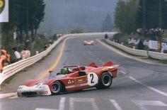 1971 , Spa. Henri Pescarolo ´s Alfa Romeo 33/3
