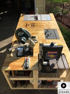 Garage work bench - Ultimate Workbench Plans Free Lovely Mega Ultimate Workbench I Wanted to Save Space In My Garage by Mobile Workbench, Diy Workbench, Table Saw Workbench, Rolling Workbench, Diy Router Table, Miter Saw Table, Woodworking Bench Plans, Woodworking Projects, Wood Plans