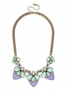 love this necklace in pastel hues.