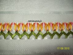 Hardanger Embroidery, Silk Ribbon Embroidery, Cross Stitch Embroidery, Hand Embroidery, Ribbon Art, Ribbon Crafts, Silk Flowers, Fabric Flowers, Fabric Origami