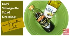 Quick and easy vinaigrette salad dressing made from ingredients you have on hand and naturally lower calorie than most vinegar and oil dressings.  No refrigeration needed, either!