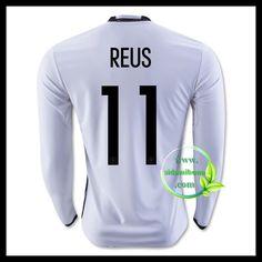 Billige Fotballdrakter Tyskland Langermet REUS 11 Hjemmedraktsett UEFA Euro 2016