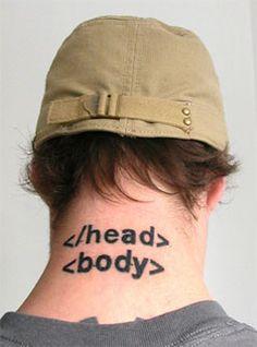 Nerd tattoo -
