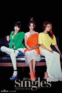 4Minute's Hyuna, Jihyun, & Gayoon // SIngles // July 2013