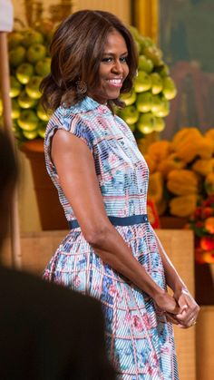 Michelle Obama's Best Looks Ever - 2014 - Mary Katrantzou from InStyle.com