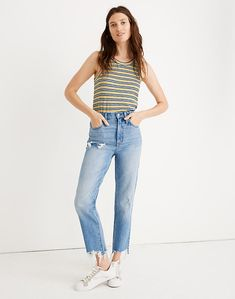 Classic Straight Jeans in Corrie Wash: Step-Hem Edition