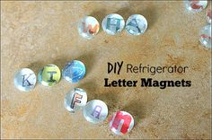 DIY Refrigerator Letter Magnets #kidsinthekitchen