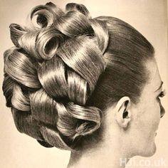 60's hair up do