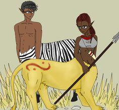 zebra and lion centaur