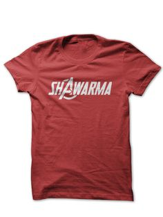 """Have you ever tried shawarma? There's a shawarma joint about two blocks from here. I don't know what it is, but I want to try it."" I seriously need this shirt!"