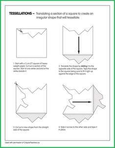 Tessellations - Tessellations Imágenes efectivas que le proporcionamos sobre diy Una imagen de alta calidad puede d - High School Art, Middle School Art, Art Worksheets, Teacher Worksheets, Drawing For Kids, Art For Kids, Tessellation Art, Op Art Lessons, Escher Art