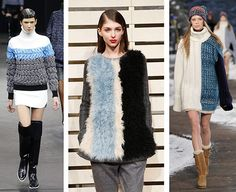 Knitwear 2.0 L-R Alexander Wang/J Crew/Tommy Hilfiger For AW14 oversized statement knitwear is the new sweatshirt – and abstract prints and ...