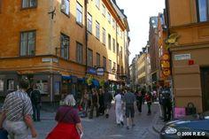 Vasterlanggatan in old town Stockholm.