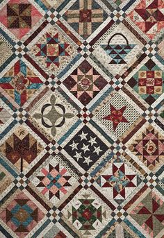 Civil War quilt blocks: I like the sashing! Old Quilts, Antique Quilts, Star Quilts, Scrappy Quilts, Vintage Quilts, Amish Quilts, Vintage Sewing, Country Quilts, Quilt Block Patterns
