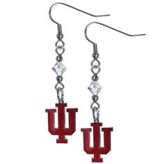 Indiana Hoosiers Crystal Dangle Earrings