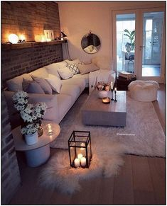the fantastic style of small apartments decor from apartment living room dec. - Deko Wohnung the fantastic style of small apartments decor from apartment living room dec. - Deko Wohnung - Cozy Living Room Decor Ideas Easy To Copy Winter Living Room, Living Room Decor Cozy, Small Living Rooms, Living Room Interior, Living Room Designs, Living Room Furniture, Bedroom Decor, Cozy Room, Decor Room