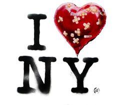 I ❤️ NY • Banksy style Bansky, Banksy Art, Graffiti Wall Art, Banksy New York, Jungle Warriors, Milton Glaser, I Love Ny, Illustrations, Street Artists
