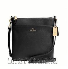COACH 52348 NORTH/SOUTH SWINGPACK MESSENGER CROSSBODY  LEATHER BLACK NWT #Coach #MessengerCrossBody