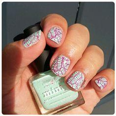 Picture polish + Stamping born pretty store