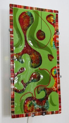 Party Dance Ikea Fused Glass Light Panel by Saturations on Etsy, $200.00