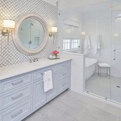 The Benefits of Classic Mediterranean Bathroom Lots of people want to have a beachfront home. If you've been at your existing home for quite a while, . Bathroom Renos, White Bathroom, Bathroom Renovations, Bathroom Interior, Modern Bathroom, Bathroom Ideas, Guys Bathroom, Classic Bathroom, Bathroom Small