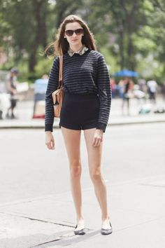 Hailey Hasbrook in a #ProenzaSchouler sweater, #MarcJacobs bag, and flats from Urban Outfitters