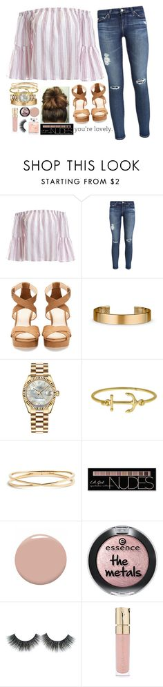"""you're lovely."" by sophie-dye ❤ liked on Polyvore featuring Sans Souci, AG Adriano Goldschmied, Pull&Bear, Le Gramme, Rolex, Nadri, Charlotte Russe, Christian Louboutin and Smith & Cult"