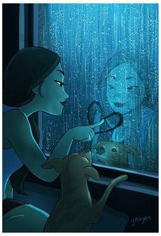 I love myself arte digital, living alone, joy of living, introvert, art Art And Illustration, Digital Painting Portrait, Painting & Drawing, Illustrator, Alone Art, Art Mignon, Digital Art Girl, Girl And Dog, Anime Art Girl