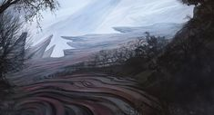 just a quick environment sketch before sleep. :c alien planet landscape Landscape Concept, Fantasy Landscape, Alien Planet, Alien Worlds, Alien Creatures, Short Trip, Another World, Planets, Concept Art