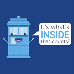 Bigger On The Inside T-Shirt $12 Doctor Who tee at Blue Box Tees!